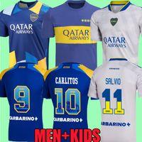 21 22 Boca Juniors Futbol Formaları 2021 2022 Cristian Pavon Tevez Carlitos Maradona Futbol Gömlek De Rossi Almendra Salvio Abila Üniforma Cabj Kids Kit Camiseta Top
