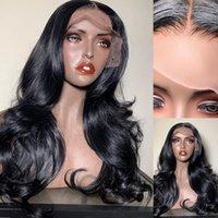 Body Wave 13X4 Lace Front Human Hair Wigs Loose Glueless Frontal Brazilian Virgin Hair 4X4 Closure For Women
