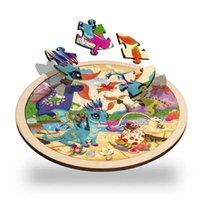 64 قطع الأطفال خشبية الإبداعية لغز الكرتون الديناصور الحيوان المرور المنطقية بانوراما لغز مجلس التعليمية لعبة للأطفال الصبي 210607