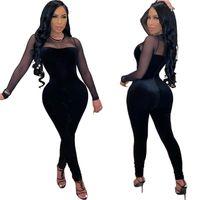 Confortable Clubwear H1729 Sleeve Designer Combinaison Sexy Rompers Mode élégante Slim Jumpsuit Pullsuit Femmes Jumpsuit Long