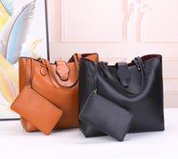 New luxury women handbags lady designer composite clutch bags large capacity black brown tote female purse wallet