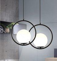Spherical glass pendant lamp, Nordic style, modern, led, for living room, in bronze, black, chrome PL3015Y