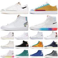 nike حذاء الجري Blazer Mid 77 High Have a Good Game High Multi Suede Dorothy Gaters Cool Grey Blazes رجال ونساء منصة أحذية رياضية خارجية للمدربين