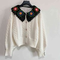 Classic casual cc women knitted sweater hoodie autumn girls wool knit hoodies lace logo long-sleeved knit shirt super elastic fashion womens design cl J3Wq#