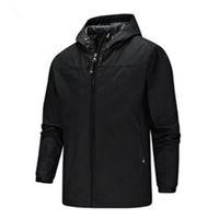 New Outdoor Jacket Couples Solid Color Windproof Mountain Climbing Sports Waterproof Hooded Jacket Windbreaker Travel Jacket