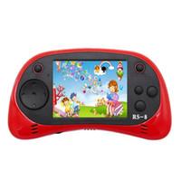 Joueur de jeu portable pour enfants, RS-8 Rétro 16 bits HD Jeu de poche intégré 42 Console de 2,5 pouces