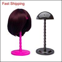 스타 접이식 안정적인 튼튼한 가발 머리 모자 캡 스탠드 홀더 디스플레이 도구 3 색 pinkblackwhite kbzcy fbsfk