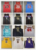 Los 23 6 Angeles Jersey Basketball MJ Scottie 8 Dennis 91 Rodman Tim 21 Duncan Retro Mesh Vince 15 Carter Tracy 1 McGrady Horoscope Jerseys Vintage Bonne qualité