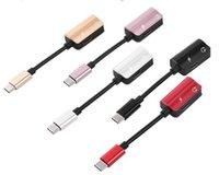 유형 C 이어폰 충전기 어댑터 USB 3.1 TYPE-C 남성 3.5mm AUX 오디오 암 충전 케이블 2 Xiaomi 6 용 1 컨버터 letv2