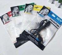 1200 teile / los 10.5 * 15 cm Reißverschluss Kunststoff Einzelhandel Tasche Paket Hangloch Verpackung Headset Kabel OPP Packtasche für Stereo-Kopfhörer