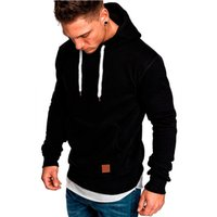 Men's solid color outdoor sports leisure Plush sweater coat men's Pullover Hooded SweaterII1U{category}