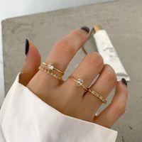 18k Ouro Abertura Anéis 925 Prata Punk Jóias Charme Bohemia Minimalismo Presente de Aniversário Haut Femme Anéis para Mulheres Anillos J1208