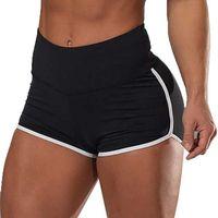 Kadın Şort Spor Spor Strecty Spor Rahat Yan Çizgili Sweatpants Moda Ince Yüksek Bel Kadınlar Için Bırak Hızlı