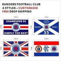 Kostenloser DHL-Versand Individuelle Flagge 90x150cm Rangers Football Club FC Loyal Champions 55 Flaggen Banner für den Außensport GWB5724