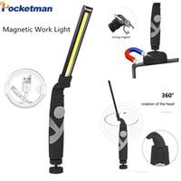 COB LED Çalışma Lambası Manyetik Çalışma Işık Muayene Işık Acil Döner Torch USB Şarj Edilebilir Esnek Lamba