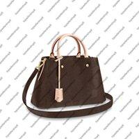 M41055 M41056 montaigne bb mm حقيبة يد المرأة قماش desinger عبر الجسم حزام جلد البقر جلد الكتف حمل حقيبة محفظة