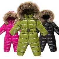 Down Coat Russian Winter Duck Jacket Boy Children Thick Ski Suit Girl Jumpsuit Baby Snowsuit Kids Overalls Infant Waterproof