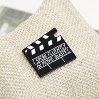 Film Set Clapboard Emaille Pin I Sprich fließend in Film Zitate Broschen Tasche Kleidung Revers Brosche Pin Abzeichen Schmuck Geschenk für Freunde 371 T2