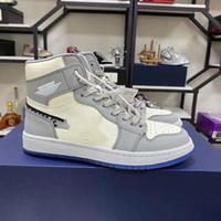 2021 Новая бесплатная доставка официально выявлена юбилей Сотрудничество серый белый французский стиль моды лейбл Ким Джонс кроссовки Обувь размером 36-44