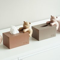 Tissue Boxes & Napkins Nordic Box Living Room Decorations Creative Home Cute Bedroom Desktop Bear Pumping Paper Porch CN(Origin)