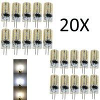 20Pcs G4 5W Silicone Crystal LED Bulbs Light 3014 SMD 48LED Lighting Warm White LampReplace Halogen Pendant Lamp 220V DC 12V