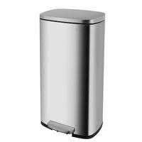 لينة الخطوة القمامة يمكن، 8 جالون (30L) برهان بصمة الفولاذ المقاوم للصدأ بن، بن دواسة القمامة بنطلون مع دلو الداخلية القابلة للإزالة للمنزل، مكتب، مطبخ