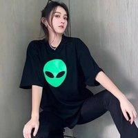 21ss высокое качество инопланетные футболки мужские женщины повседневные тройники с коротким рукавом хип хоп топы тройник панк печать буква летом скейтборд человек парижский штамп мода одежда EUR размер XS-L