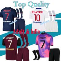 16-2XL взрослые и дети Mailoots de футбольные наборы 20 21 Paris Soccer Jersey 2020 2021 MBAPPE ICARDI рубашка мужчины Maillot de Foot Hommes Enfants