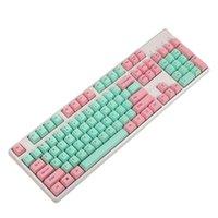Buzlu Hissediyorum Keycaps 108 Tuşlar 1.5mm Thikness PBT Kiraz MX Anahtarı Mekanik Oyun Klavyesi için Anahtar Caps Klavyeleri Değiştirin