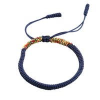 Tennis yisuya dame décontracté wrap bracelets bleu élégant réglable ajustable chaîne de corde multicolore à la main féminin brelo bijoux dame cadeau