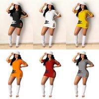 2021 Mujeres Vestido de verano Agujeros rasgados T Shirt Diseñadores Diseñadores Vestidos cortos Vestidos Rip Strips Bodycon Falda Tee Home Deportes Playa Paño H31CXS4