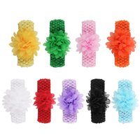 Hair Accessories Lace Flower Baby Headbands For Girls Elastic Borns Infants Head Band Toddlers