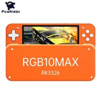 Powkiddy RGB10 Max Pro Retro Open Source System Handheld Game Console 3.5Inch \ 5.0Inch RK3326 IPS Screen 3D Rocker Children G0925