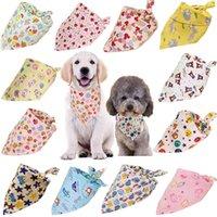 Pies bandana miękki i oddychający pies trójkąt szaliki z chłodnymi wzorami dla pet szczeniak chłopcy dziewczyny