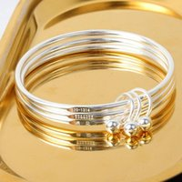 Bangle Multi Circle Bangles Silver Lover Bracelet Silver-plated Couple Bracelets Gift Bells Charms For Men Women Jewelry Gifts