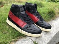 Специальная версия Jumpman 1 1S Выполненная кутюр Мужская баскетбольная обувь Высокий вырез Подгонянные Спортивные Шнурки Очень Ошибка Полный размер 40--46