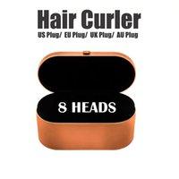 EU / 영국 / 미국 8HEADS 선물 상자와 머리카락 경기자 다기능 스타일링 장치 정상 헤어 상위 품질 자동 컬링 아이언