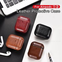 Protective Bag Leather Sleeve Cover Cases Storage Earphone Portable For Apple AirPods Pro Charging Box Anti-Lost designer handbags Case With Hook