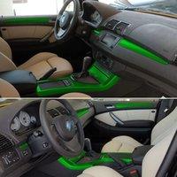ل BMW X5 E53 1999-2006 ذاتية لاصقة ملصقات السيارات 3D 5D ألياف الكربون الفينيل ملصقات السيارات والشارات اكسسوارات السيارات التصميم