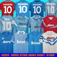 1997 1998 Napoli Retro Soccer Jerseys Coppa Italia SSC Maradona Calcio 82 83 Classic 86 87 88 89 90 91 93 Napoli Retro Zloa Footba