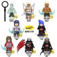 8шт / набор 4.5см KF6119 NARUTO NINJA серии Naruto Детская головоломка собрала строительный блок миниатюрных игрушек