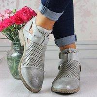 LASPERAL Mode Herbst Frauen Stiefel Mid Heels Schuhe Für Weibliche PU-Leder Knöchelstiefel Rivet Schnalle Daily Schuhe Kurze P0IE #