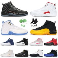 nike air jordan 12 12s retro Jumpman Jorden Retro Basketball Chaussures de basket Grind Gold Twist Twist Dark Concord Mens Femmes FIBA Baskets Sneakers 36-47