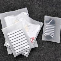 CPE 서리가 낀 지퍼 가방 양말 속옷 의류 가방 플라스틱 지퍼 가방 투명한 의류