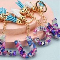 26 Italiano Alphabet Keychain Bella moda trasparente in cristallo in cristallo in cristallo nappa pendente pendente regalo di natale RRA4209