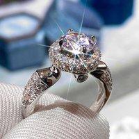 2021 Einfache Runde Zirkonia Braut Ringe Perfect Elegante Frauen Ehe Ringe Party Brilliant Timeless Schmuck