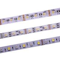 12mm PCB RGBCCT-LED-Streifen 12V / 24V 4In1 5Colors 5 IN1-Chips RGB + WW + CW 60 LEDs / M 5m / Los RGBW RGBWW LED-Streifen-Licht 5m / lot.