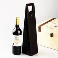 Bolsa de vino de cuero de PU portátil de lujo de lujo botella de vino bolsa de embalaje bolsa de vacaciones bolsa de almacenamiento de vino ZZE5175