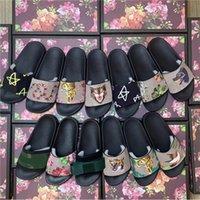Kutusu Bayan Sandalet Moda Luxurys Tasarımcılar Erkek Slaytlar Kauçuk Geniş Düz Kaygan Sandal Flip Flop Çiçek Terlik Yaz Açık Brocade Vintage Loafer'lar