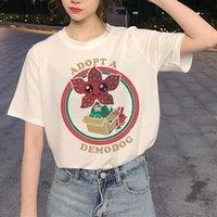 LUS LOS Kadınlar Yabancı Şeyler T Gömlek 2021 Yeni Yaz T-shirt Giysi Tops Kişilik Tshirt Kadın Harajuku İnce Bölüm Tees